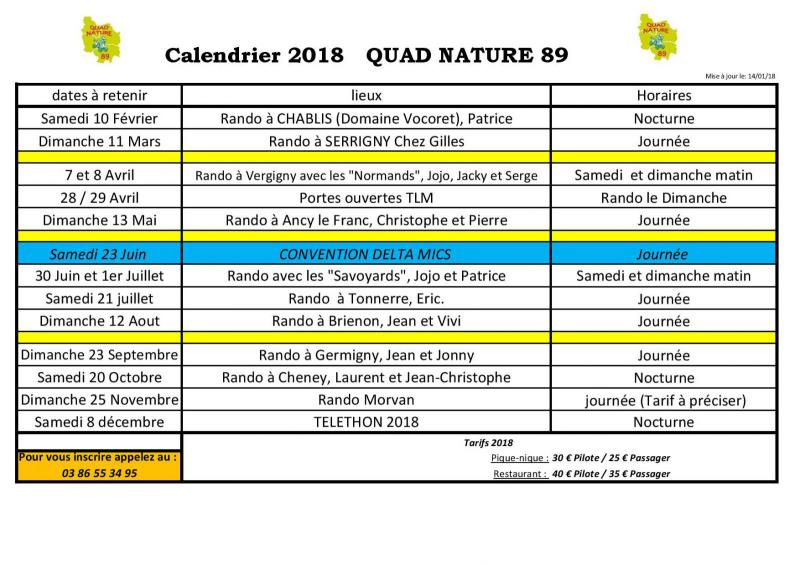 Sortie Quad et SSV pour l'année 2018